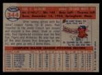 1957 Topps #344  Paul LaPalme  Back Thumbnail