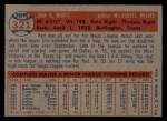 1957 Topps #321  Red Murff  Back Thumbnail