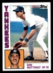 1984 Topps #8  Don Mattingly  Front Thumbnail