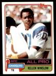 1981 Topps #150  Kellen Winslow  Front Thumbnail