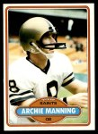 1980 Topps #93  Archie Manning  Front Thumbnail