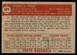 1952 Topps #379  Joe Rossi  Back Thumbnail