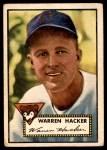1952 Topps #324  Warren Hacker  Front Thumbnail