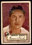 1952 Topps #385  Herman Franks  Front Thumbnail