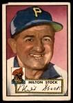 1952 Topps #381  Milton Stock  Front Thumbnail