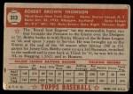 1952 Topps #313  Bobby Thomson  Back Thumbnail