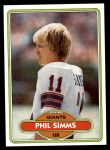 1980 Topps #225  Phil Simms  Front Thumbnail