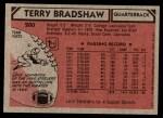 1980 Topps #200  Terry Bradshaw  Back Thumbnail