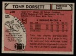 1980 Topps #330  Tony Dorsett  Back Thumbnail