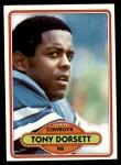 1980 Topps #330  Tony Dorsett  Front Thumbnail