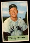 1954 Bowman #65  Mickey Mantle  Front Thumbnail