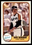 1981 Fleer #76  Dave Bergman  Front Thumbnail
