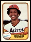 1981 Fleer #58  Enos Cabell  Front Thumbnail