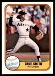 1981 Fleer #71  Dave Smith  Front Thumbnail