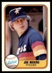 1981 Fleer #54  Joe Niekro  Front Thumbnail