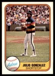 1981 Fleer #73  Julio Gonzalez  Front Thumbnail