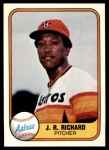 1981 Fleer #56  J.R. Richard  Front Thumbnail
