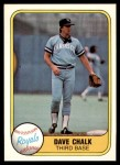 1981 Fleer #35  Dave Chalk  Front Thumbnail