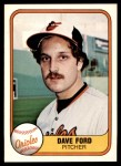 1981 Fleer #192  Dave Ford  Front Thumbnail