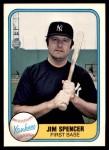 1981 Fleer #96  Jim Spencer  Front Thumbnail