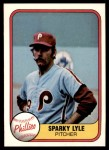 1981 Fleer #17  Sparky Lyle  Front Thumbnail