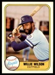 1981 Fleer #29  Willie Wilson  Front Thumbnail