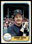 1981 Fleer #99  Johnny Oates  Front Thumbnail