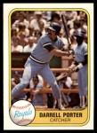 1981 Fleer #36  Darrell Porter  Front Thumbnail