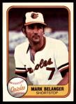 1981 Fleer #175  Mark Belanger  Front Thumbnail