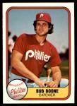 1981 Fleer #4  Bob Boone  Front Thumbnail