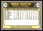 1981 Fleer #39  Renie Martin  Back Thumbnail