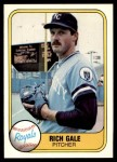1981 Fleer #40  Rich Gale  Front Thumbnail