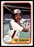 1981 Fleer #168  Tony Bernazard  Front Thumbnail