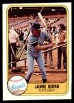 1981 Fleer #50  Jamie Quirk  Front Thumbnail
