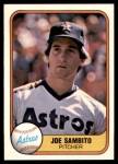 1981 Fleer #65  Joe Sambito  Front Thumbnail