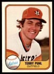 1981 Fleer #62  Terry Puhl  Front Thumbnail