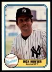 1981 Fleer #84  Dick Howser  Front Thumbnail