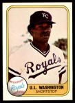 1981 Fleer #34  U.L. Washington  Front Thumbnail