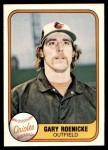 1981 Fleer #187  Gary Roenicke  Front Thumbnail