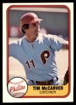 1981 Fleer #27  Tim McCarver  Front Thumbnail