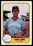 1981 Fleer #38  Larry Gura  Front Thumbnail