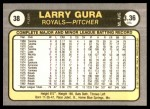 1981 Fleer #38  Larry Gura  Back Thumbnail