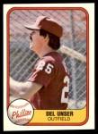 1981 Fleer #26  Del Unser  Front Thumbnail