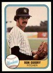 1981 Fleer #88  Ron Guidry  Front Thumbnail