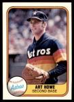 1981 Fleer #51  Art Howe  Front Thumbnail