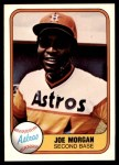 1981 Fleer #78  Joe Morgan  Front Thumbnail