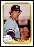1981 Fleer #30  Paul Splittorff  Front Thumbnail