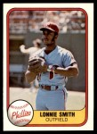 1981 Fleer #15  Lonnie Smith  Front Thumbnail