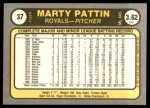 1981 Fleer #37  Marty Pattin  Back Thumbnail
