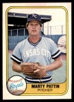 1981 Fleer #37  Marty Pattin  Front Thumbnail